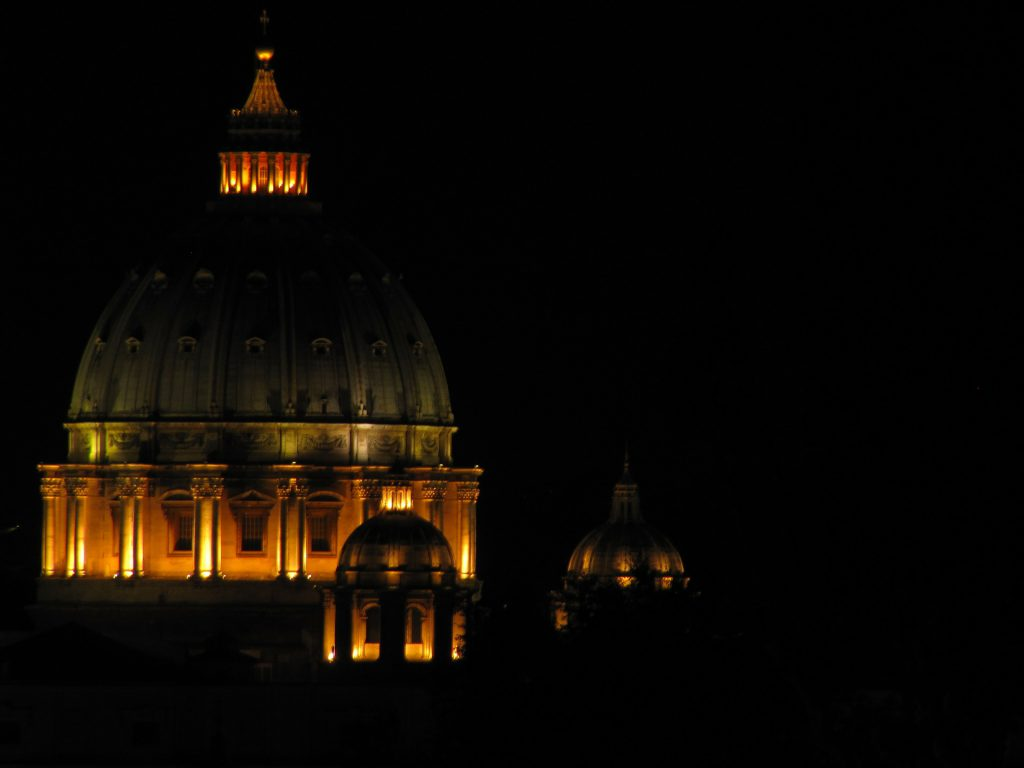 St Peter's Basilica, the Vatican at Night