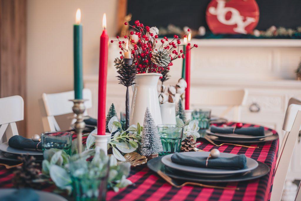 Setting up the Christmas Table