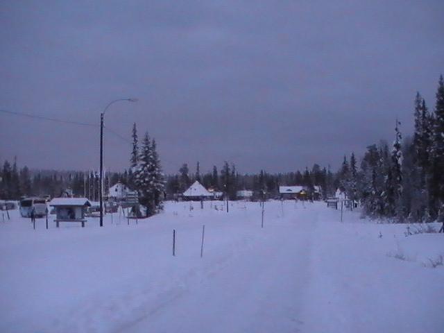 Luosto, Lapland in the snow