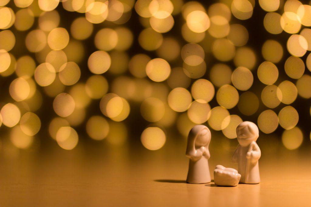 The Nativity, Mary, Joseph and the baby Jesus